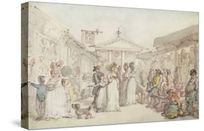 Covent Garden Market, C.1795-1810 (Pen and Ink, W/C and Pencil on Wove Paper)-Thomas Rowlandson-Stretched Canvas Print