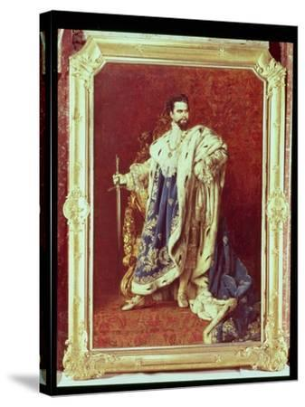 Ludwig II (1845-86) 1887-Gabriel Schachinger-Stretched Canvas Print