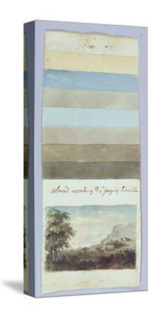 Colour Chart, from 'Hints to Form the Taste and Regulate Ye Judgement in Sketching Landscape'-Rev. William Gilpin-Stretched Canvas Print