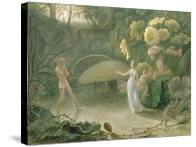 Oberon and Titania, a Midsummer Night's Dream, Act Ii, Scene I, by William Shakespeare (1566-1616)-Francis Danby-Stretched Canvas Print