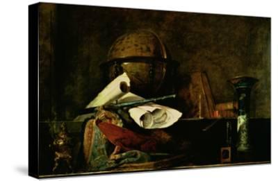 Allegory of Science-Jean-Baptiste Simeon Chardin-Stretched Canvas Print