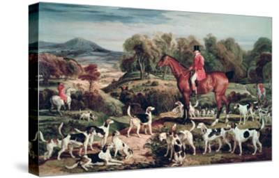 Ralph Lambton and His Hounds-James Ward-Stretched Canvas Print