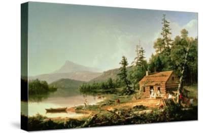 Home in the Woods, 1847-Thomas Cole-Stretched Canvas Print