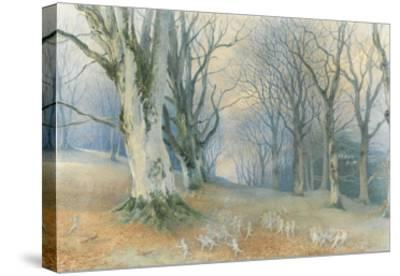 Fairies and Squirrels, C.1870 (W/C on Paper)-Richard Doyle-Stretched Canvas Print