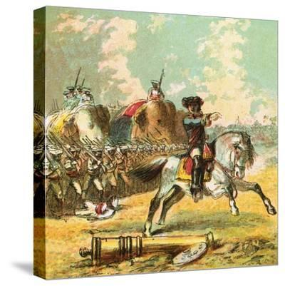 Clive's Victories in India-English-Stretched Canvas Print