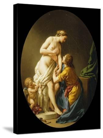 Pygmalion and Galatea, 1781-Louis Jean Francois I Lagrenee-Stretched Canvas Print