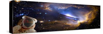 Space Man with Reflection--Stretched Canvas Print