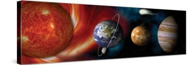 Sun and Planets--Stretched Canvas Print