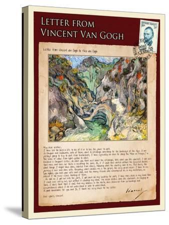 Letter from Vincent: Les Peiroulets Ravine-Vincent van Gogh-Stretched Canvas Print