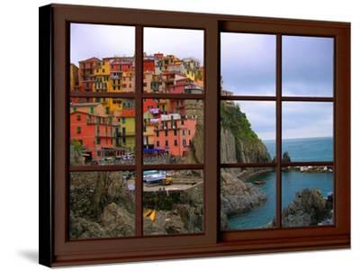 View from the Window Manarola at Cinque Terre-Anna Siena-Stretched Canvas Print