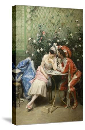 Masqueraders-Raimundo de Madrazo Y Garetta-Stretched Canvas Print