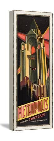 Metropolis--Framed Stretched Canvas Print