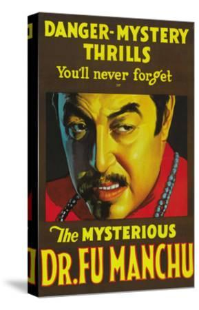 The Mysterious Dr. Fu Manchu--Stretched Canvas Print