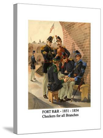 Fort R&R - 1851 - 1854 - Checkers for All Branches-Henry Alexander Ogden-Stretched Canvas Print
