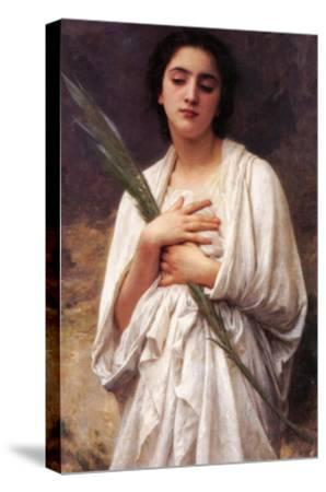 The Palm Leaf-William Adolphe Bouguereau-Stretched Canvas Print