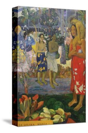 La Orana Maria (Hail Mary)-Paul Gauguin-Stretched Canvas Print