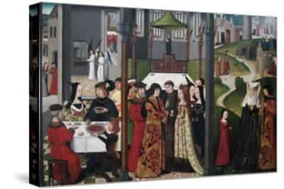 The Life and Miracles of Saint Godelieve, Polyptych, Last Quarter of 15th Century--Stretched Canvas Print