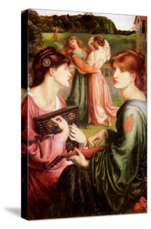 The Bower Meadow-Dante Gabriel Rossetti-Stretched Canvas Print