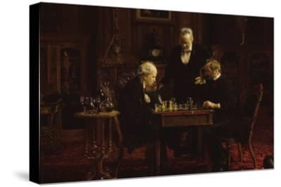The Chess Players-Thomas Cowperthwait Eakins-Stretched Canvas Print