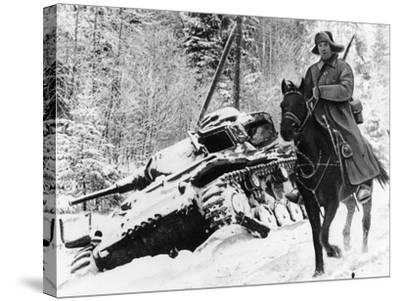 WWII Red Army Cavalry Rider--Stretched Canvas Print