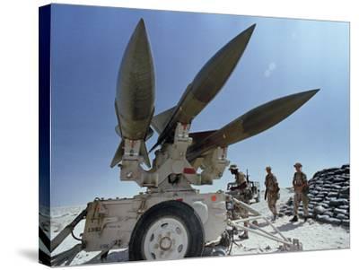 U.S. Hawk Anti-Air Craft Missiles- Endicher-Stretched Canvas Print