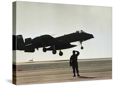 Saudi Arabia Army U.S. Forces A10 Warthog Attack Plane Kuwait Crisis--Stretched Canvas Print