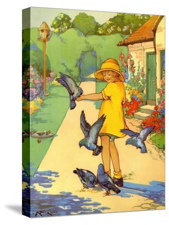 Infant School Illustrations, UK--Stretched Canvas Print