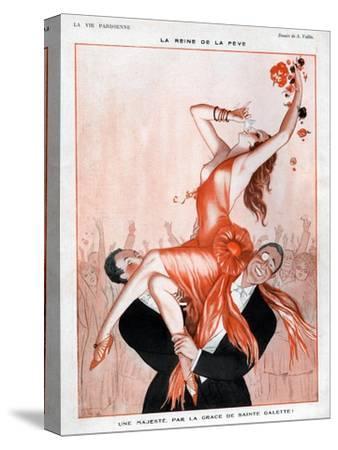 La Vie Parisienne, A Vallee, France--Stretched Canvas Print