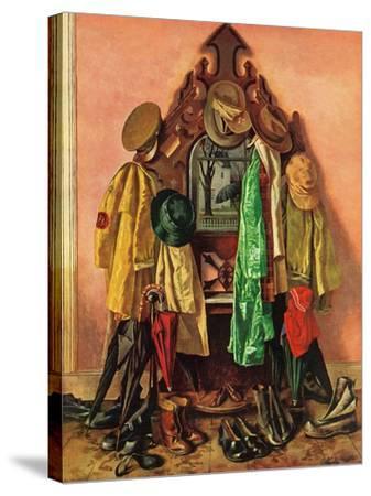 """Loaded Coat Rack"", April 14, 1945-John Atherton-Stretched Canvas Print"