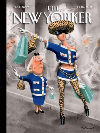The New Yorker Cover - September 10, 2012-Ian Falconer-Stretched Canvas Print