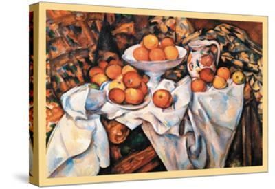 Pommes Et Oranges--Stretched Canvas Print