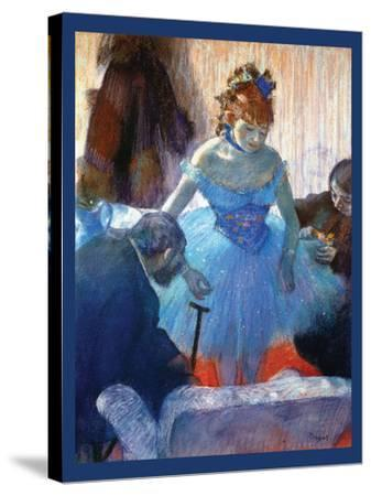 Ballerina Changing-Edgar Degas-Stretched Canvas Print