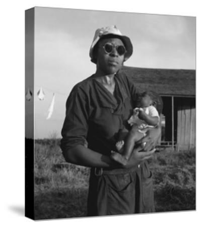 Wife and Child of Tractor Driver-Dorothea Lange-Stretched Canvas Print