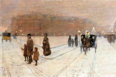 Urban Fairy Tale-Childe Hassam-Stretched Canvas Print