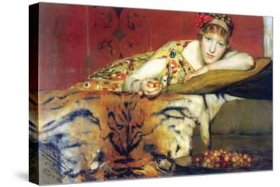 A Craving for Cherries-Sir Lawrence Alma-Tadema-Stretched Canvas Print