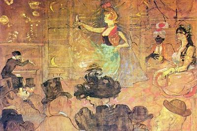 Mauri Dance-Henri de Toulouse-Lautrec-Stretched Canvas Print