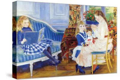 Children in the Afternoon in Wargemont-Pierre-Auguste Renoir-Stretched Canvas Print
