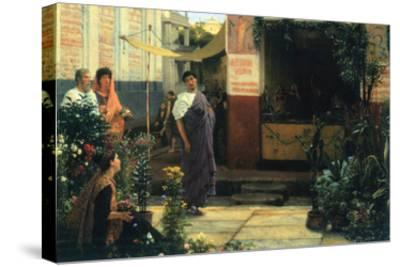 The Flower Market-Sir Lawrence Alma-Tadema-Stretched Canvas Print
