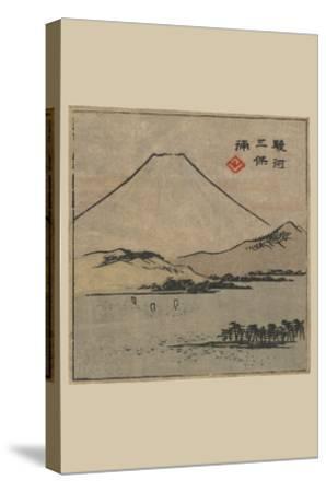 Miho Bay in Suruga (Suruga Miho No Ura)-Ando Hiroshige-Stretched Canvas Print