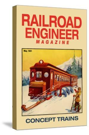 Railroad Engineer Magazine: Concept Trains--Stretched Canvas Print