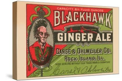 Blackhawk Ginger Ale--Stretched Canvas Print