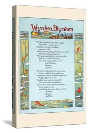 Wynken, Blynken, and Nod-Eugene Field-Stretched Canvas Print
