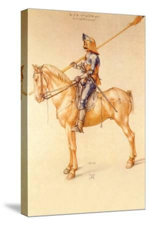 Rider in the Armor-Albrecht D?rer-Stretched Canvas Print
