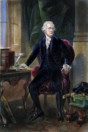 Alexander Hamilton--Stretched Canvas Print