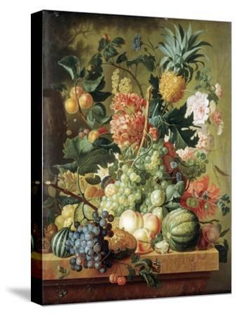 Brussel: Fruits, 1789-Paul Theodor van Brussel-Stretched Canvas Print