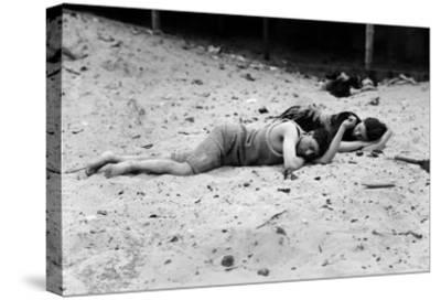 Coney Island: Sleeping--Stretched Canvas Print