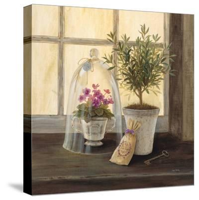 Lavender Window Garden-Angela Staehling-Stretched Canvas Print