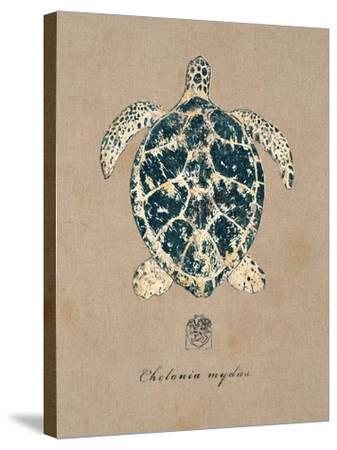 Vintage Linen Tortoise-Regina-Andrew Design-Stretched Canvas Print