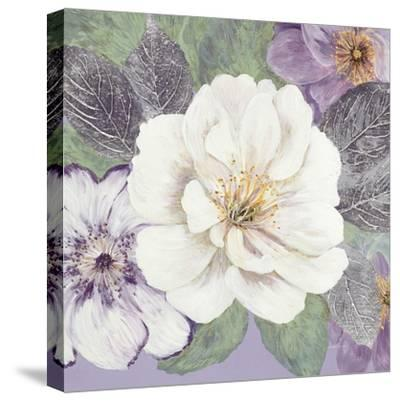 Plum and Lavender Garden 1-Colleen Sarah-Stretched Canvas Print