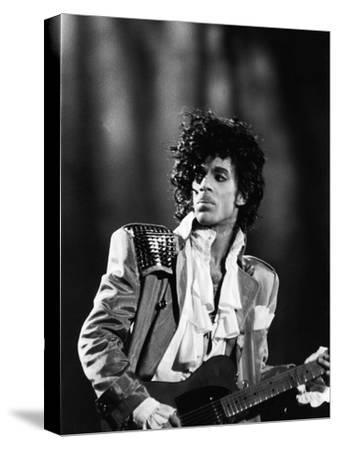 Prince, Concert Performance, 1984 Photo-Vandell Cobb-Stretched Canvas Print